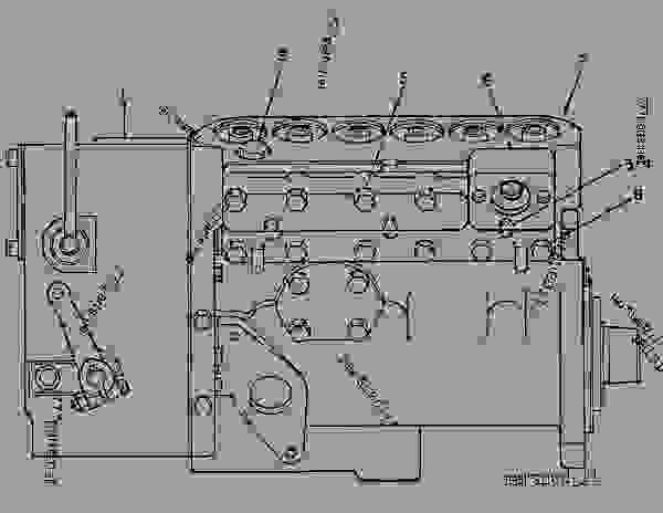 Parts scheme 7C5220 PUMP GROUP-GOV & FUEL INJ   - ENGINE - GENERATOR SET Caterpillar 3306B - 3306B Generator Set 9NR00001-UP FUEL SYSTEM | 777parts