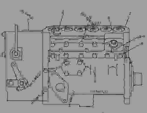 Parts scheme 7C5222 PUMP GROUP-GOV & FUEL INJ   - ENGINE - GENERATOR SET Caterpillar 3306B - 3306B Generator Set 9NR00001-UP FUEL SYSTEM | 777parts