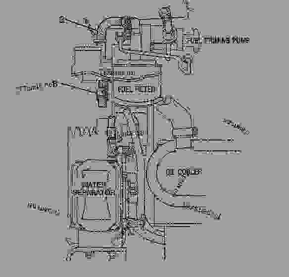 Parts scheme 4W1143 LINES GROUP-FUEL   - ENGINE - GENERATOR SET Caterpillar 3208 - 3208 Generator Set Engine 5YF00001-UP FUEL SYSTEM | 777parts