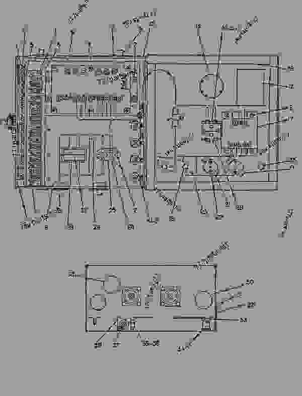 Parts scheme 4W9601 JUNCTION BOX GROUP  - ENGINE - GENERATOR SET Caterpillar 3306B - 3306 Generator Set Engine 5JC00001-UP ELECTRICAL AND STARTING SYSTEM | 777parts