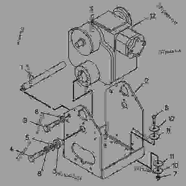 Parts scheme 8C3866 MOTOR GROUP-PISTON   - COLD PLANER Caterpillar PR-450C - PR-450C Cold Planer 7PJ00001-UP (MACHINE) POWERED BY 3408 Engine HYDRAULIC SYSTEM | 777parts