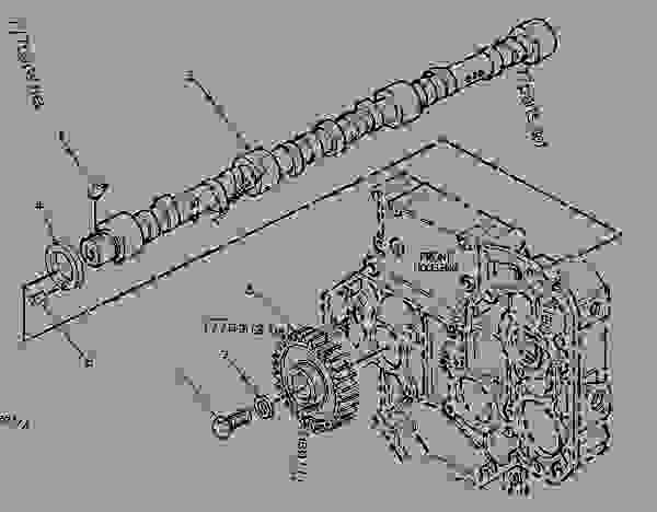 Parts scheme 6I4352 CAMSHAFT GROUP   - ENGINE - GENERATOR SET Caterpillar 3056 - 3056 Generator Set Engine 7AK00001-UP BASIC ENGINE | 777parts