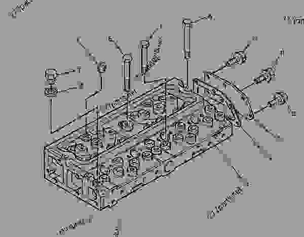 Parts scheme 1089615 CYLINDER HEAD GROUP   - ENGINE - GENERATOR SET Caterpillar 3054 - 3054 Generator Set Engine 4ZK00001-UP BASIC ENGINE | 777parts