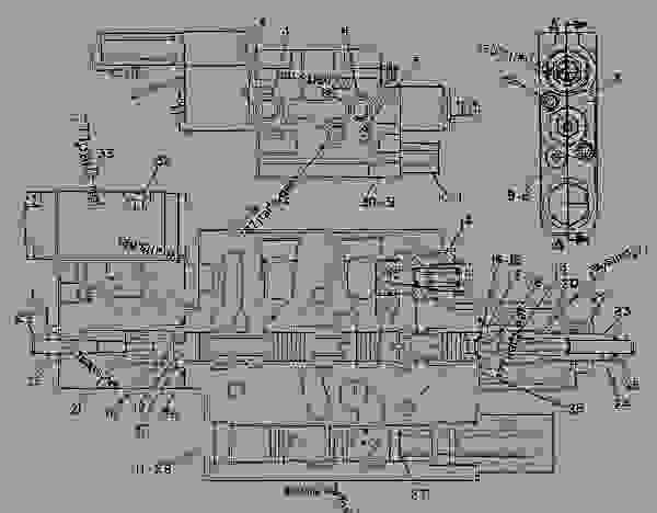 Parts scheme 9T1799  VALVE GROUP-CONTROL VALVE GP-CONTROL - CHALLENGER Caterpillar 65E - Challenger 65E Agricultural Tractor 6GS00001-UP (MACHINE) POWERED BY 3176C Engine HYDRAULIC SYSTEM | 777parts