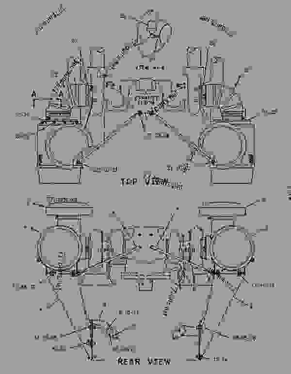 Parts scheme 1115040 AIR CLEANER GROUP   - ENGINE - GENERATOR SET Caterpillar 3412 - 3412 Generator Set Engine 2WJ00001-UP AIR INLET AND EXHAUST SYSTEM | 777parts