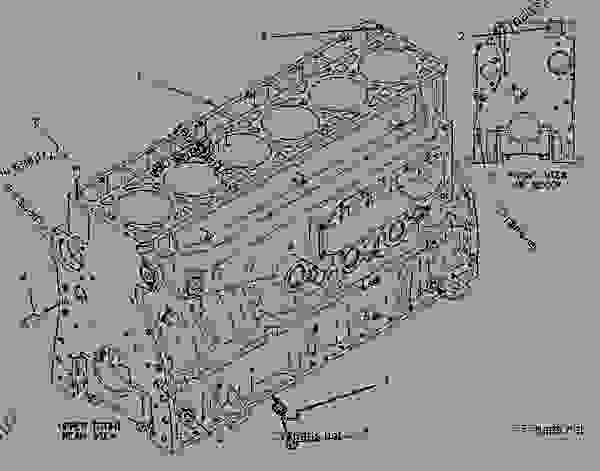 Parts scheme 1077606 CYLINDER BLOCK GROUP   - CHALLENGER Caterpillar 55 - Challenger 55 Agricultural Tractor 7DM00001-00849 (MACHINE) POWERED BY 3126 Engine BASIC ENGINE | 777parts