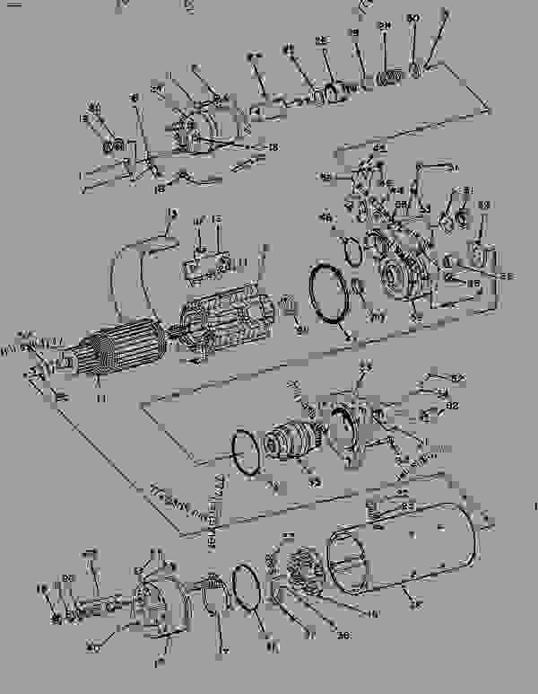 Parts scheme 7T0798 STARTING MOTOR   - ENGINE - GENERATOR SET Caterpillar 3306B - 3306B Generator Set 9NR00001-UP ELECTRICAL AND STARTING SYSTEM | 777parts