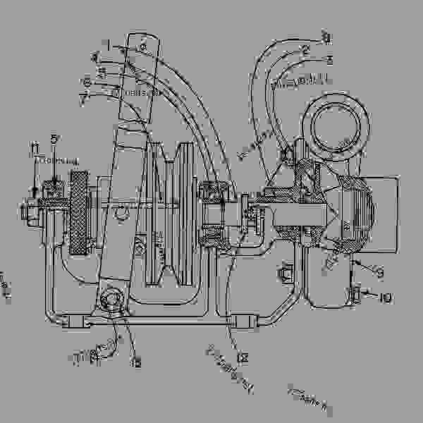Parts scheme 6L5875 PUMP AS-BILGE  -RH - ENGINE - GENERATOR SET Caterpillar 3306 - 3306 Generator Set 85Z00001-03763 COOLING SYSTEM | 777parts