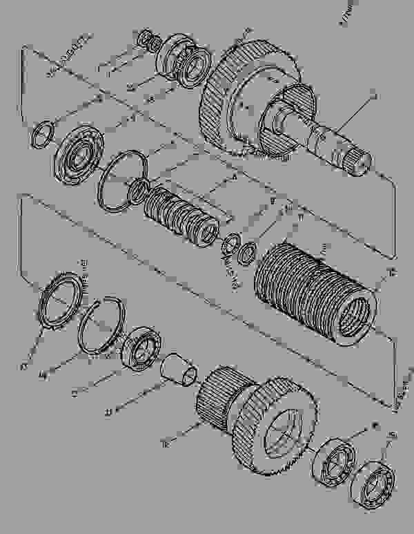 Parts scheme 1193868 CLUTCH AS  -7TH - CHALLENGER Caterpillar 35 - Challenger 35 and Challenger 45 Agricultural Tractors 8DN00001-00849 (MACHINE) POWERED BY 3116 Engine POWER TRAIN | 777parts