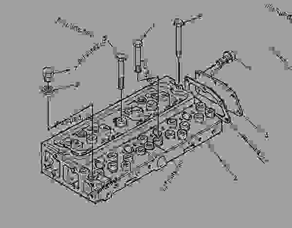 Parts scheme 1014072 CYLINDER HEAD GROUP   - ASPHALT PAVER Caterpillar AP-800C - CATERPILLAR AP-800C BARBER-GREENE BG-230 Asphalt Pavers 1PM00001-UP (MACHINE) POWERED BY 3054 Engine BASIC ENGINE | 777parts