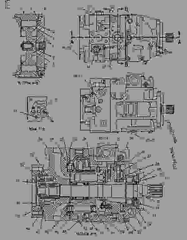 Parts scheme 1240500 PUMP GROUP-PISTON   - CHALLENGER Caterpillar 45 - Challenger 35 and Challenger 45 Agricultural Tractors 1DR00001-01699 (MACHINE) POWERED BY 3116 Engine HYDRAULIC SYSTEM | 777parts