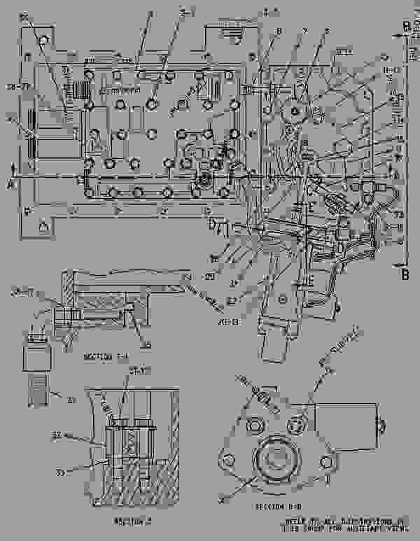 Parts scheme 1745109 CONTROL GROUP-DIFFERENTIAL LOCK   - ARTICULATED DUMP TRUCK Caterpillar D350E II - D350E Series II Articulated Truck 2XW00001-UP (MACHINE) POWERED BY 3406E Engine POWER TRAIN | 777parts