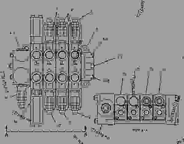 Parts scheme 1123248 VALVE GROUP-BANK 4   - INTEGRATED TOOLCARRIER Caterpillar IT14G - IT14G Integrated Toolcarrier 1WN00001-00659 (MACHINE) POWERED BY 3054 Engine HYDRAULIC SYSTEM | 777parts