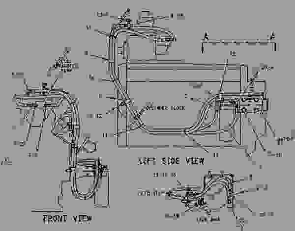 Parts scheme 1088763 LINES GROUP-FUEL FILTER   - COLD PLANER Caterpillar PR-450C - PR-450C Cold Planer 7PJ00001-UP (MACHINE) POWERED BY 3408 Engine FUEL SYSTEM | 777parts