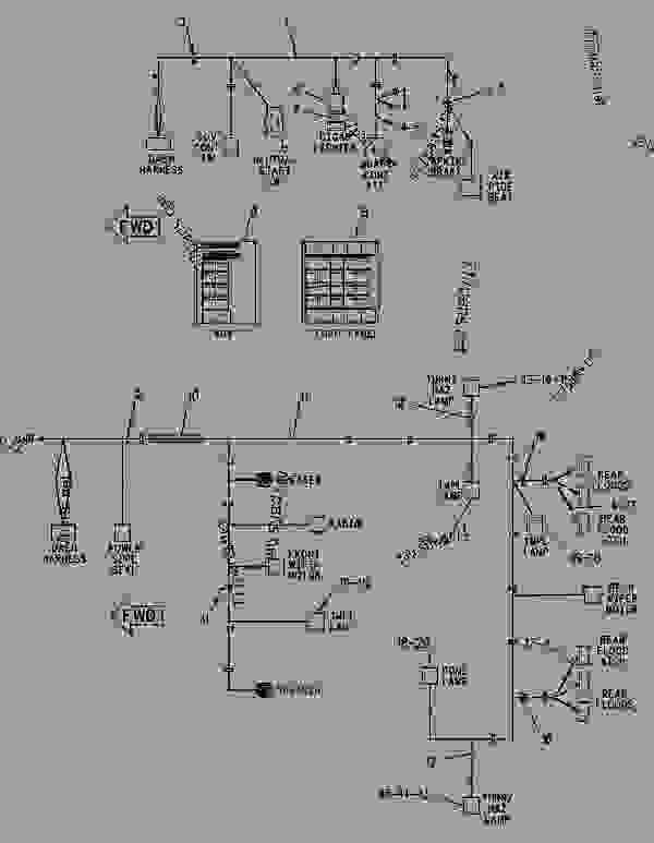 Parts scheme 1176157 WIRING GROUP-CAB   - CHALLENGER Caterpillar 85D - Challenger 85D Agricultural Tractor 4GR00001-UP (MACHINE) POWERED BY 3196 Engine ELECTRICAL AND STARTING SYSTEM | 777parts