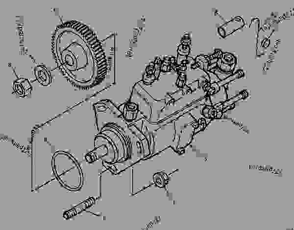Parts scheme 1262223 PUMP GROUP-FUEL INJECTION   - ENGINE - GENERATOR SET Caterpillar 3056 - 3056 Generator Set Engine 7AK00001-UP FUEL SYSTEM | 777parts