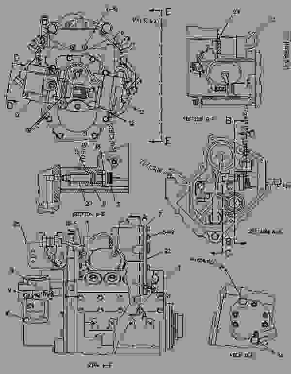 Parts scheme 6I2356 PUMP GROUP-GOV & FUEL INJ   - ENGINE - GENERATOR SET Caterpillar 3412 - 3412 Generator Set Engine 2WJ00001-UP FUEL SYSTEM | 777parts