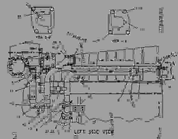 Parts scheme 1125740 LINES GROUP-AUXILIARY SEA WATER   - ENGINE - GENERATOR SET Caterpillar 3306B - 3306B Generator Set Engine 9DS00001-UP COOLING SYSTEM | 777parts