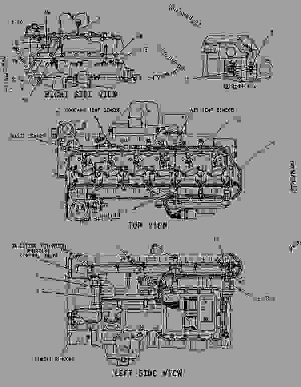 1268232 wiring group-electronic control - engine