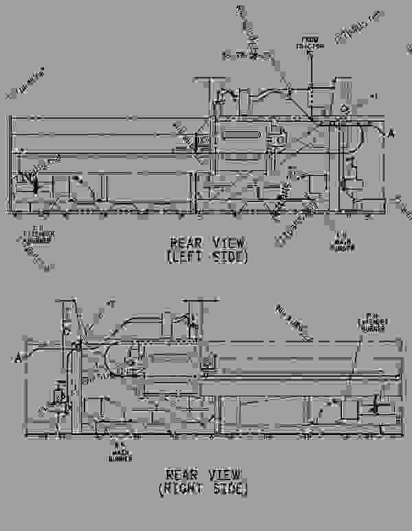 Parts scheme 1030757 LINES GROUP-BURNER  -DIESEL HEAT - ASPHALT PAVER Caterpillar 8 FT - 8-16B EXTEND-A-MAT Screed 3GL00001-UP FUEL SYSTEM | 777parts