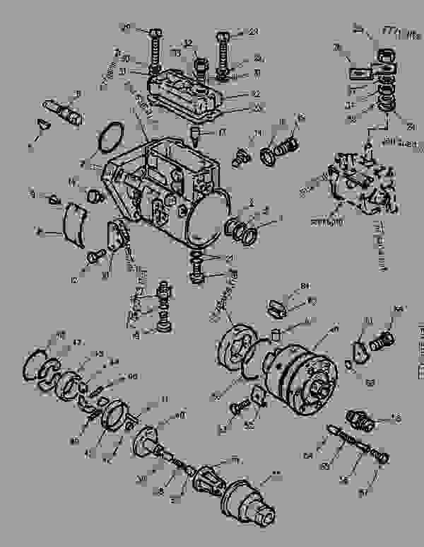 Parts scheme 6I1173 PUMP GROUP-FUEL INJECTION   - BACKHOE LOADER Caterpillar 416B - 416B Backhoe Loader 8ZK00001-05999 (MACHINE) POWERED BY 3054 Engine FUEL SYSTEM | 777parts