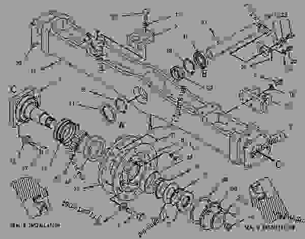 Parts scheme 1004548 AXLE GROUP-FRONT   - CHALLENGER Caterpillar 75D - Challenger 75D Agricultural Tractor 5AR00001-UP (MACHINE) POWERED BY 3176C Engine UNDERCARRIAGE | 777parts