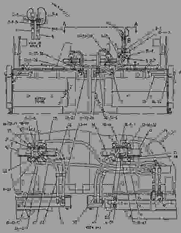 Parts scheme 1629212 CYLINDER GROUP-HYDRAULIC   - ASPHALT PAVER Caterpillar 8 FT - 8B PAVEMASTER Screed 7NR00001-UP HYDRAULIC SYSTEM | 777parts