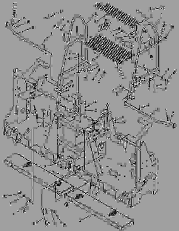 Parts scheme 1101528 PLATFORM GROUP   - ASPHALT PAVER Caterpillar 10 FT - 10B PAVEMASTER Screed 3MM00001-UP OPERATOR STATION | 777parts