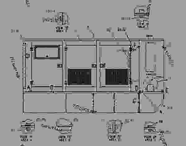 Parts scheme 1435860 ENCLOSURE GROUP-GENERATOR   - ENGINE - GENERATOR SET Caterpillar 3306B - 3306 Generator Set 8NS00001-UP ENCLOSURES, GUARDS AND BASES | 777parts