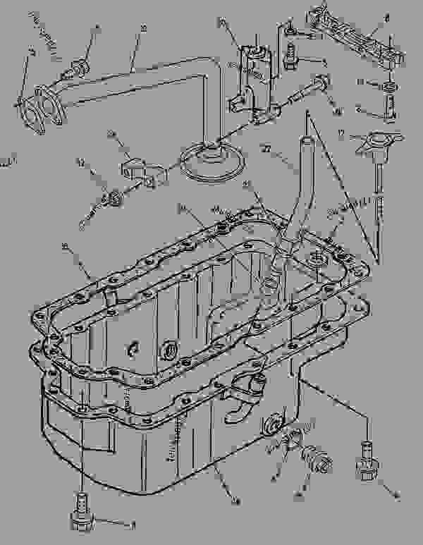 Parts scheme 1102937 PAN GROUP-OIL   - ENGINE - INDUSTRIAL Caterpillar 3054 - 3054 Industrial Engine 6FK00001-UP BASIC ENGINE | 777parts