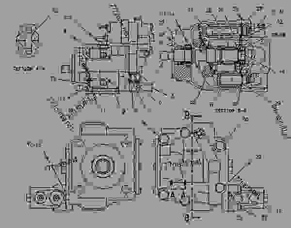 Parts scheme 1376548 PUMP GROUP-PISTON   - CHALLENGER Caterpillar 95E - Challenger 95E Agricultural Tractor 6KS00001-UP (MACHINE) POWERED BY 3196 Engine HYDRAULIC SYSTEM | 777parts