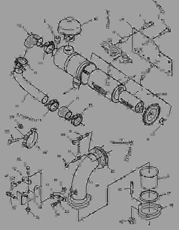 Parts scheme 1023536 AIR CLEANER GROUP   - ENGINE - GENERATOR SET Caterpillar 3056 - 3056 Generator Set Engine 7AK00001-UP AIR INLET AND EXHAUST SYSTEM | 777parts