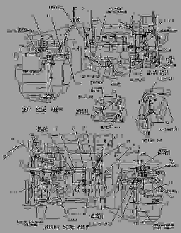 1349644 Wiring Group Engine Wheel Type Loader