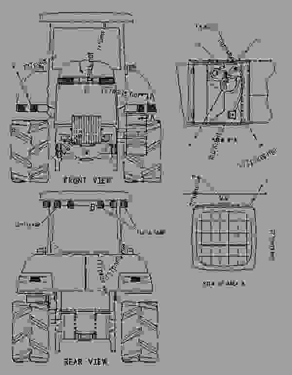 Parts scheme 1365504 LIGHTING GROUP   - CHALLENGER Caterpillar 85E - Challenger 85E Agricultural Tractor 6JS00001-UP (MACHINE) POWERED BY 3196 Engine ELECTRICAL AND STARTING SYSTEM | 777parts