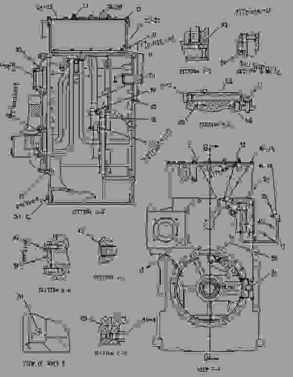 Parts scheme 1496329 CASE & PARTS GROUP-TRANSMISSION  -WITHOUT POWER TAKE-OFF - CHALLENGER Caterpillar 85E - Challenger 85E Agricultural Tractor 6JS00001-UP (MACHINE) POWERED BY 3196 Engine POWER TRAIN | 777parts