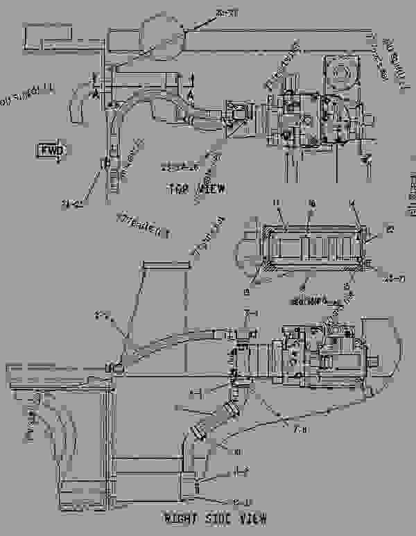 Parts scheme 1100256 LINES GROUP-PUMP   - CHALLENGER Caterpillar 65E - Challenger 65E Agricultural Tractor 1GM00001-UP (MACHINE) POWERED BY 3176 Engine DIFFERENTIAL STEERING SYSTEM | 777parts