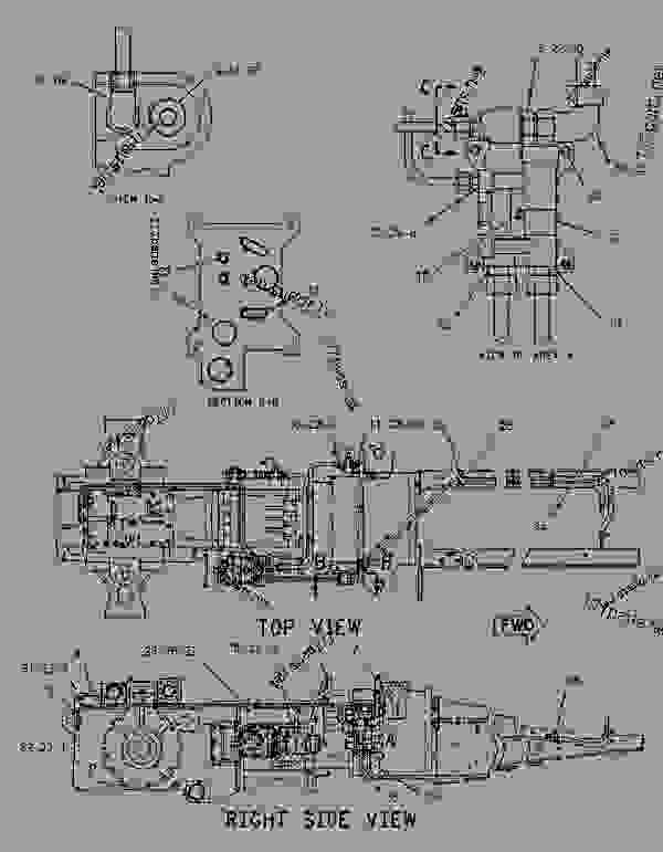Parts scheme 1042303 LINES GROUP-TRANSMISSION   - CHALLENGER Caterpillar 55 - Challenger 55 Agricultural Tractor 7DM00001-00849 (MACHINE) POWERED BY 3126 Engine POWER TRAIN | 777parts