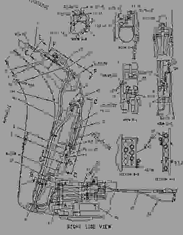 Parts scheme 1218348 LINES GROUP-BACKHOE AUXILIARY   - BACKHOE LOADER Caterpillar 436C - 436C Backhoe Loader Center Pivot, Parallel Lift 1PR00001-01598 (MACHINE) POWERED BY 3054 Engine HYDRAULIC SYSTEM | 777parts