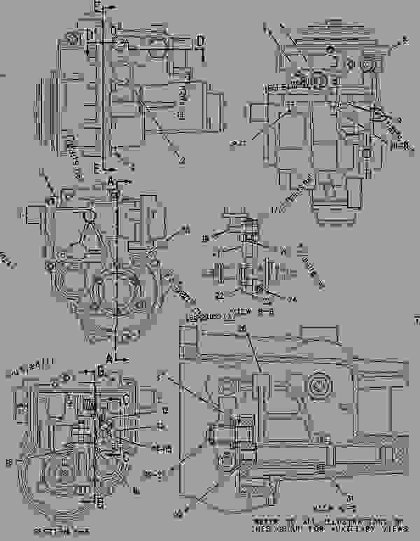 Parts scheme 1095556 GOVERNOR GROUP-UNIT INJECTOR   - CHALLENGER Caterpillar 55 - Challenger 55 Agricultural Tractor 7DM00001-00849 (MACHINE) POWERED BY 3126 Engine FUEL SYSTEM | 777parts