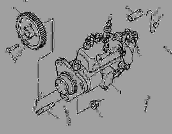 1232936 PUMP GROUP FUEL INJECTION WHEEL TYPE LOADER