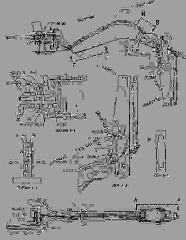 Parts scheme 1357200 KIT-AUXILIARY LINES   - BACKHOE LOADER Caterpillar 436C - 436C Backhoe Loader Center Pivot, Single Tilt 9JN00001-00883 (MACHINE) POWERED BY 3054 Engine HYDRAULIC SYSTEM | 777parts