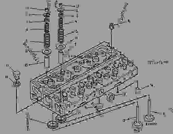Parts scheme 1508682 CYLINDER HEAD GROUP   - ENGINE - GENERATOR SET Caterpillar 3054 - 3054 Generator Set Engine 4ZK00001-UP BASIC ENGINE | 777parts