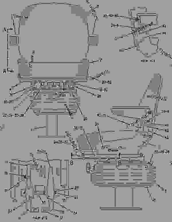 Parts scheme 1305565 SEAT GROUP-SUSPENSION   - BACKHOE LOADER Caterpillar 426C - 426C Backhoe Loader Center Pivot, Parallel Lift 1MR00001-00955 (MACHINE) POWERED BY 3054 Engine OPERATOR STATION | 777parts