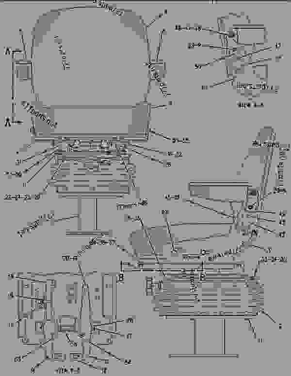 Parts scheme 1305565 SEAT GROUP-SUSPENSION   - BACKHOE LOADER Caterpillar 436C - 436C Backhoe Loader Center Pivot, Parallel Lift 1RR00001-00997 (MACHINE) POWERED BY 3054 Engine OPERATOR STATION | 777parts