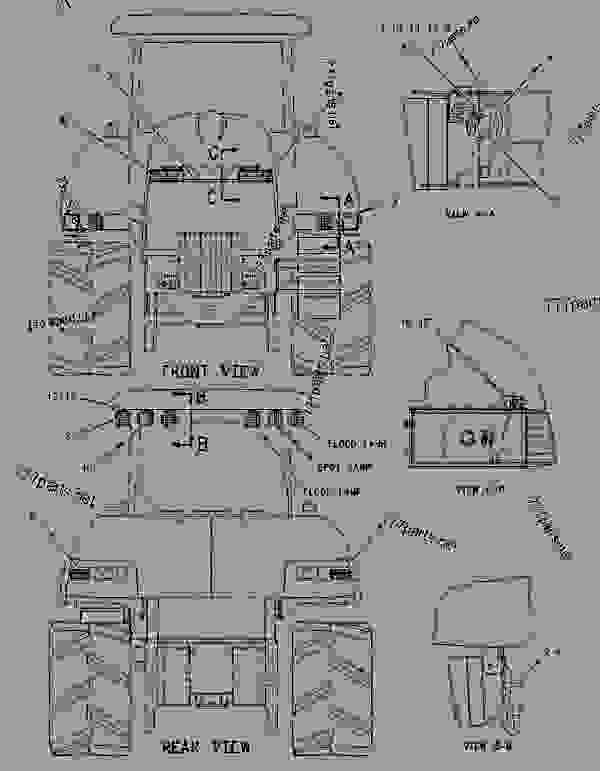 Parts scheme 1572726 LIGHTING GROUP-ROADING   - CHALLENGER Caterpillar 65E - Challenger 65E Agricultural Tractor 1GM00001-UP (MACHINE) POWERED BY 3176 Engine ELECTRICAL AND STARTING SYSTEM | 777parts
