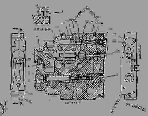 Parts scheme 1124527 VALVE GROUP-SELECTOR & PRESS CONT   - CHALLENGER Caterpillar 85E - Challenger 85E Agricultural Tractor 1NM00001-UP (MACHINE) POWERED BY 3196 Engine POWER TRAIN | 777parts