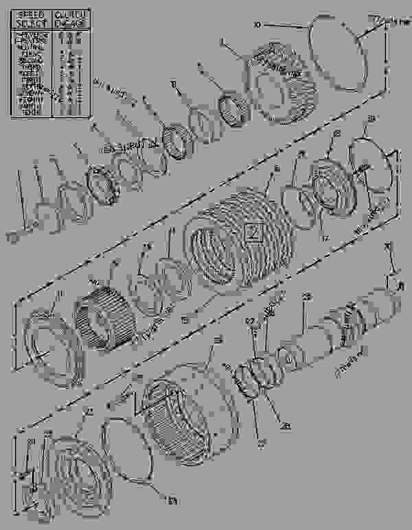 Parts scheme 7T6126 CLUTCH GROUP   - CHALLENGER Caterpillar 75D - Challenger 75D Agricultural Tractor 5AR00001-UP (MACHINE) POWERED BY 3176C Engine POWER TRAIN | 777parts