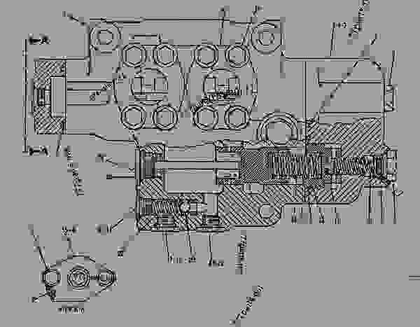 Parts scheme 1U2230 VALVE GROUP-STEERING   - EARTHMOVING COMPACTOR Caterpillar 815B - 815B Soil Compactor 17Z00001-UP (MACHINE) POWERED BY 3306 Engine STEERING SYSTEM | 777parts