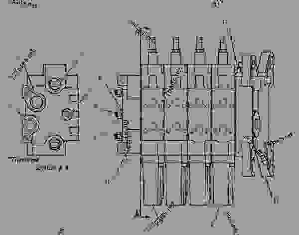 Parts scheme 1542182 VALVE GROUP-BANK 4   - CHALLENGER Caterpillar 55 - Challenger 55 Agricultural Tractor 80 in (2032 mm) Base Gauge AEN00001-UP (MACHINE) POWERED BY 3126 Engine HYDRAULIC SYSTEM | 777parts