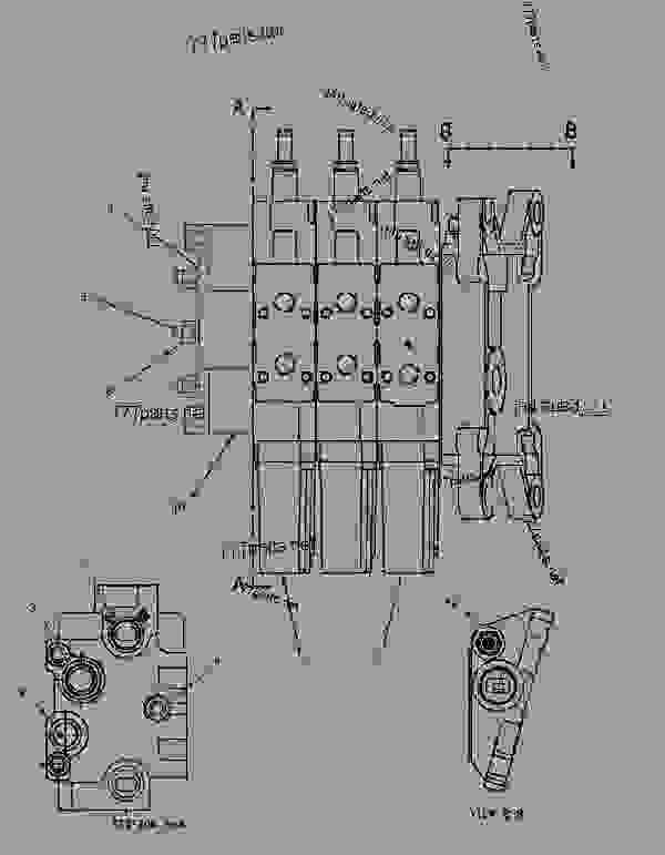 Parts scheme 1542181 VALVE GROUP-BANK 3   - CHALLENGER Caterpillar 55 - Challenger 55 Agricultural Tractor 80 in (2032 mm) Base Gauge AEN00001-UP (MACHINE) POWERED BY 3126 Engine HYDRAULIC SYSTEM | 777parts